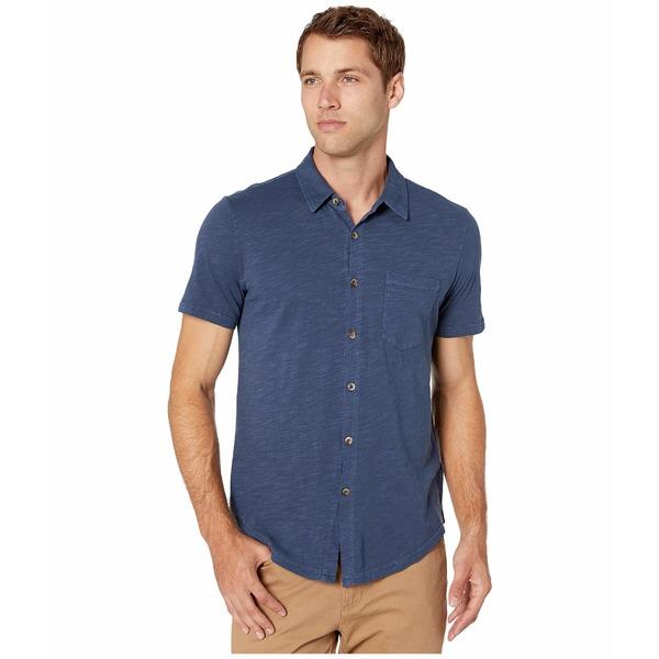 モッドドック メンズ シャツ トップス Montana Short Sleeve Button Front Shirt Naval