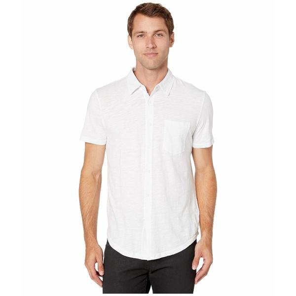 モッドドック メンズ シャツ トップス Montana Short Sleeve Button Front Shirt White 1