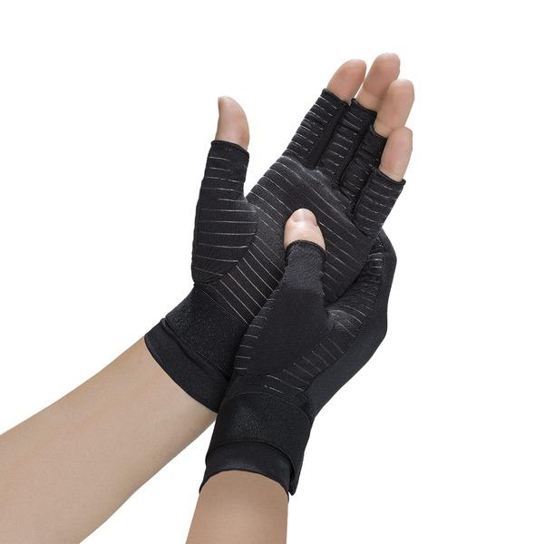 コッパーフィット メンズ アクセサリー 手袋 Black 激安通販専門店 全商品無料サイズ交換 Copper Compression Hand 卓出 Gloves Fit Relief