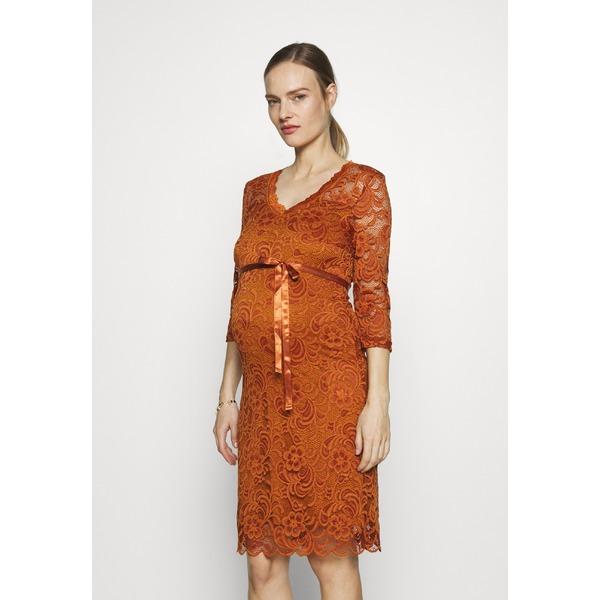 ママリシャス レディース トップス ディスカウント ワンピース leather brown 全商品無料サイズ交換 MLMIVANA 3 dmkd0174 DRESS - dress Day 4 超目玉