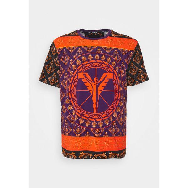 カルロ コルッチ メンズ トップス Tシャツ black 全商品無料サイズ交換 Print - 日本全国 送料無料 dmkd0175 COLOURS BIG T-shirt 限定品