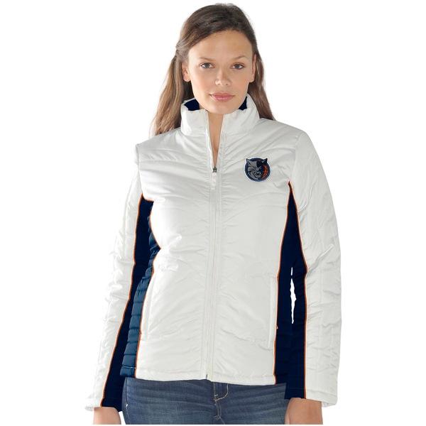 カールバンクス レディース ジャケット&ブルゾン アウター Charlotte Bobcats Women's Touchdown Full Zip Quilted Jacket White