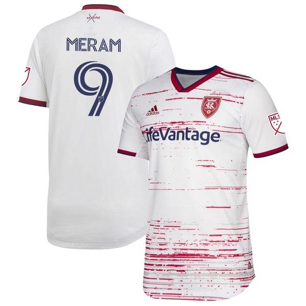 アディダス メンズ ユニフォーム トップス Justin Meram Real Salt Lake adidas 2020 Secondary Authentic Jersey White