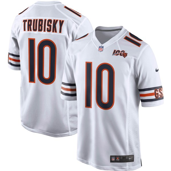 ナイキ メンズ ユニフォーム トップス Mitchell Trubisky Chicago Bears Nike 100th Season Game Jersey Navy