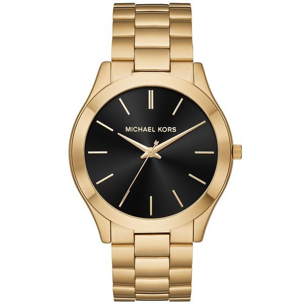 高い品質 マイケルコース レディース レディース 腕時計 アクセサリー Men's Slim Runway アクセサリー Gold-Tone Stainless Men's Steel Bracelet Watch 44mm Gold/Black, ハンコックツール:a50e71da --- coursedive.com