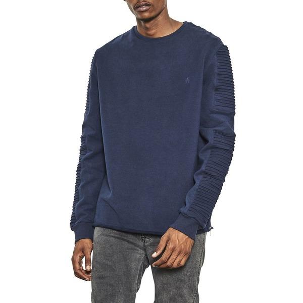 ナナジュディ 激安通販専門店 メンズ 低価格化 アウター ニットセーター Navy 全商品無料サイズ交換 Fleece Sweater Crew Neck Men's