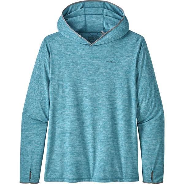 パタゴニア メンズ シャツ トップス Tropic Comfort II Hooded Shirt Mako Blue