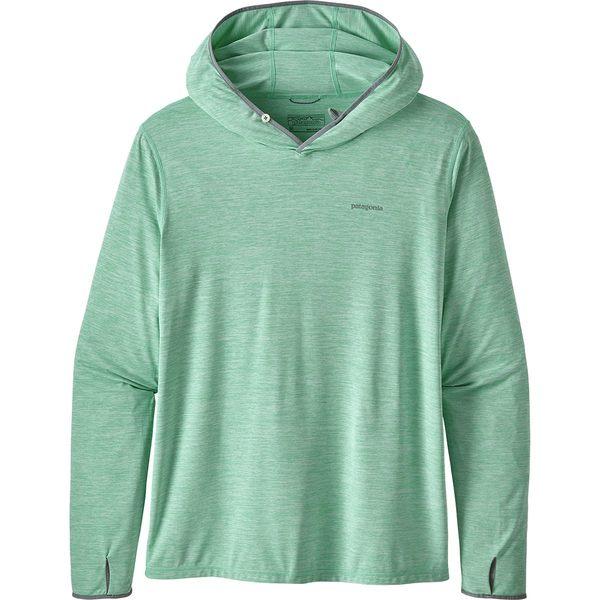 パタゴニア メンズ シャツ トップス Tropic Comfort II Hooded Shirt Fitz Roy Tarpon/Vjosa Green