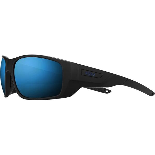 ロカ メンズ サングラス・アイウェア アクセサリー AT-1x Polarized Sunglasses Matte Black/Glacier Mirror Polar