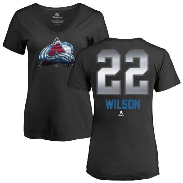 ファナティクス レディース Tシャツ トップス Colorado Avalanche Fanatics Branded Women's Personalized Midnight Mascot VNeck TShirt Black