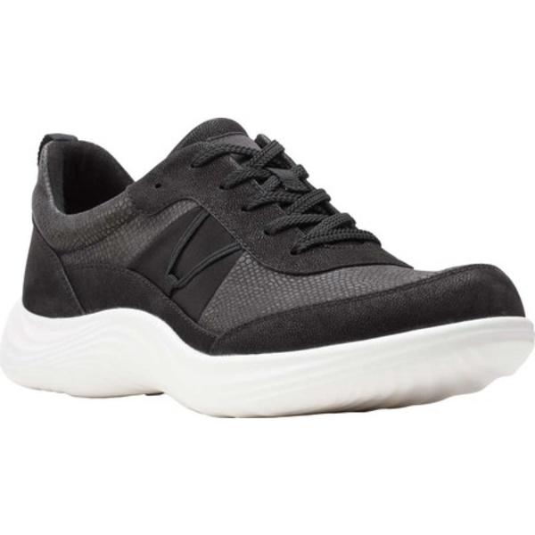 クラークス レディース スニーカー シューズ Lulu Walk Sneaker Black Combi Textile