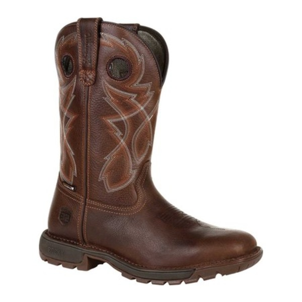 ロッキー メンズ ブーツ&レインブーツ シューズ Legacy 32 Waterproof Western Boot RKW0315 Brown Full Grain Leather