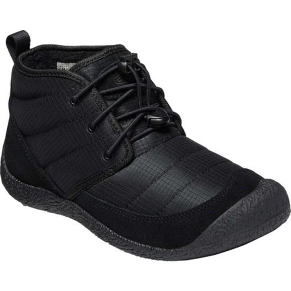 キーン レディース ブーツ&レインブーツ シューズ Howser II Quilted Chukka Boot Black/Black