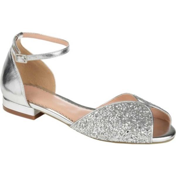 ジャーニーコレクション レディース サンダル シューズ Verona Ankle Strap Sandal Silver Glitter/Synthetic