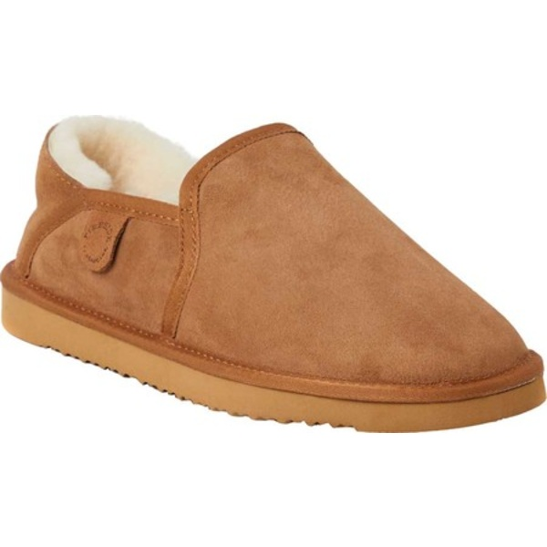 ディアフォームズ メンズ サンダル シューズ Fireside Hobart Genuine Shearling Slipper Chestnut Sheepskin