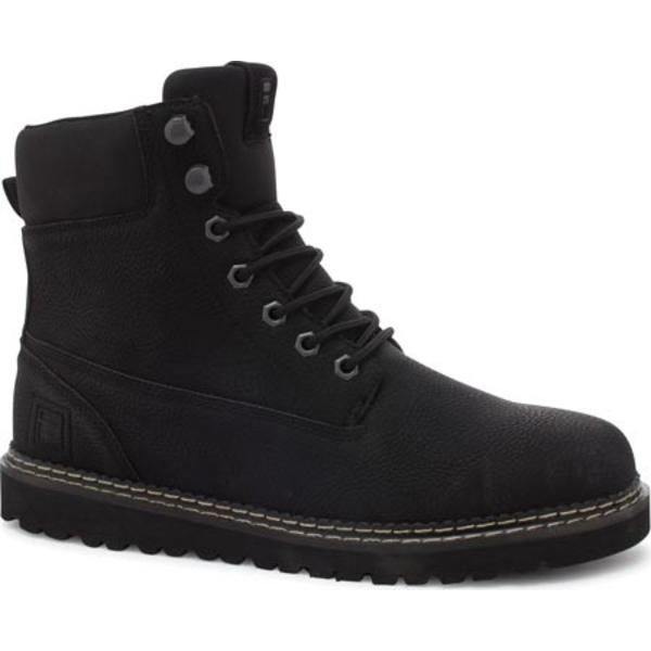 フィラ メンズ ブーツ&レインブーツ シューズ Madison Boot Black/Black/Black