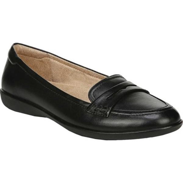 ナチュライザー レディース サンダル シューズ Finley Flat Penny Loafer Black Leather