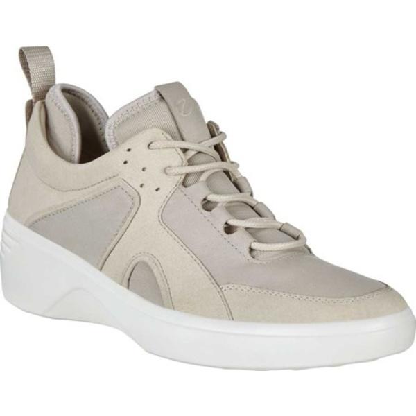 エコー レディース スニーカー シューズ Soft 7 Wedge Sneaker Gravel/Gravel Nubuck/Textile