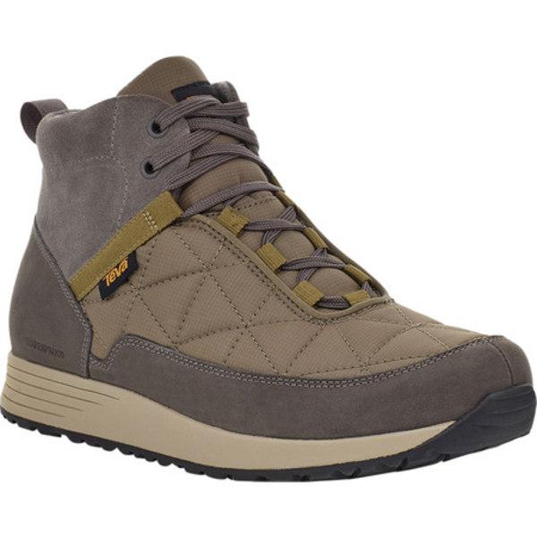 テバ メンズ ブーツ&レインブーツ シューズ Ember Commute Waterproof Boot Grey/Olive Leather/Recycled Polyester