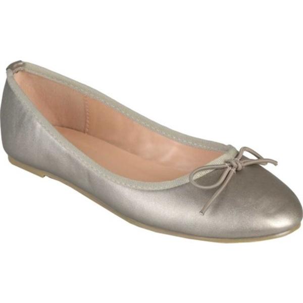 ジャーニーコレクション レディース サンダル シューズ Vika2 Ballet Flat Pewter Faux Leather