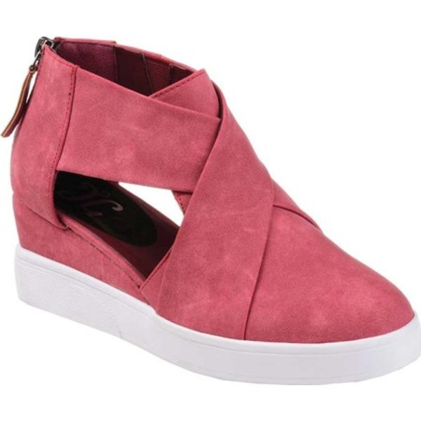 ジャーニーコレクション レディース スニーカー シューズ Seena Cut Out Wedge Sneaker Pink Faux Leather