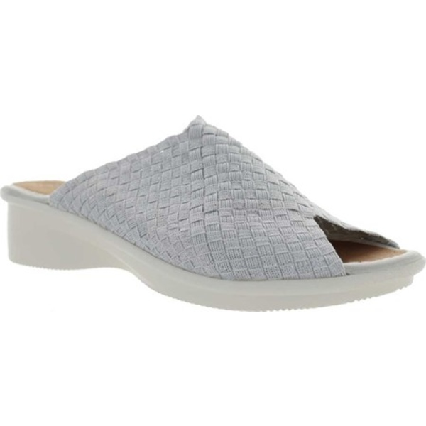 ビーニーメブ レディース サンダル シューズ Cyrene Woven Slide White Shimmer/Cream Handwoven Nylon