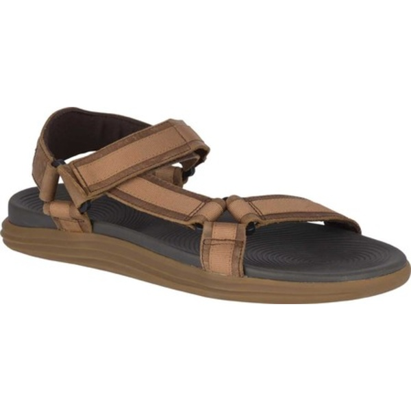 Grain シューズ サンダル Strap トップサイダー メンズ 2 Leather Sandal Full Brown Regatta