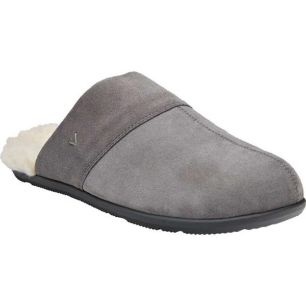 バイオニック メンズ サンダル シューズ Alfons Slipper Charcoal Leather