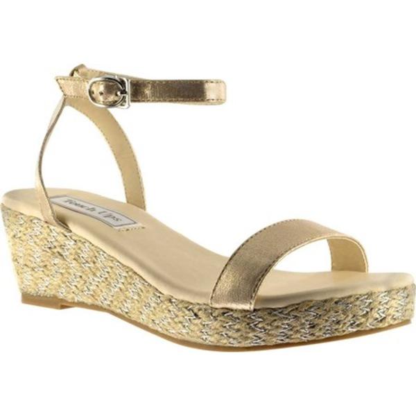 タッチアップ レディース サンダル シューズ Bailey Ankle Strap Wedge Sandal Nude Shimmer Synthetic