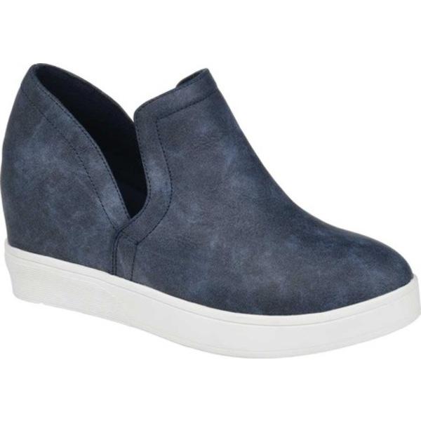 ジャーニーコレクション レディース スニーカー シューズ Cardi Slip On Sneaker Blue Faux Leather
