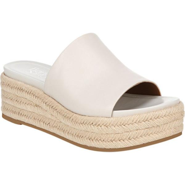 フランコサルト レディース サンダル シューズ Tola Espadrille Platform Slide Putty Leather