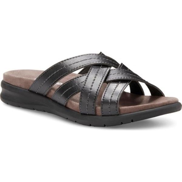 イーストランド レディース サンダル シューズ Cheyenne Slide Sandal Black Synthetic
