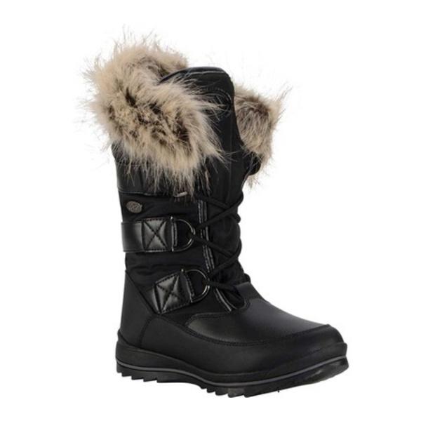 ラグズ レディース ブーツ&レインブーツ シューズ Tundra Winter Boot Black/Dark Brown/Cream Synthetic Nubuck