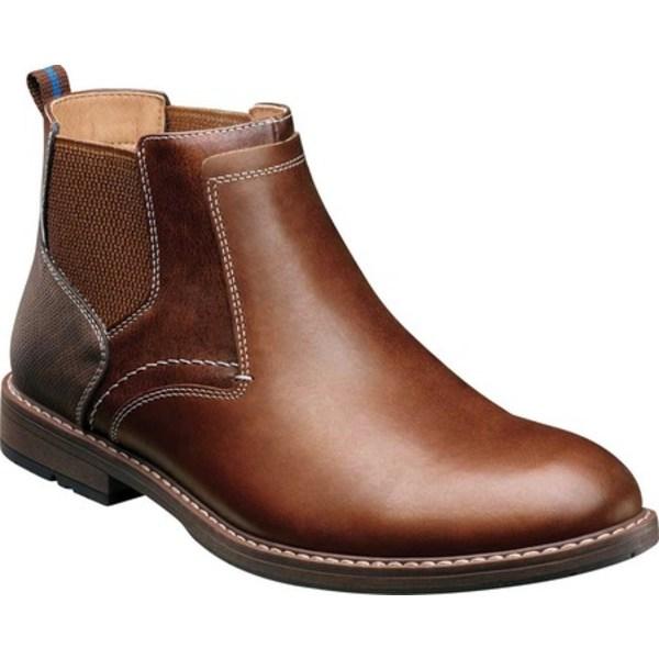 ノンブッシュ メンズ ブーツ&レインブーツ シューズ Fuse Plain Toe Chelsea Boot Brandy Multi Leather