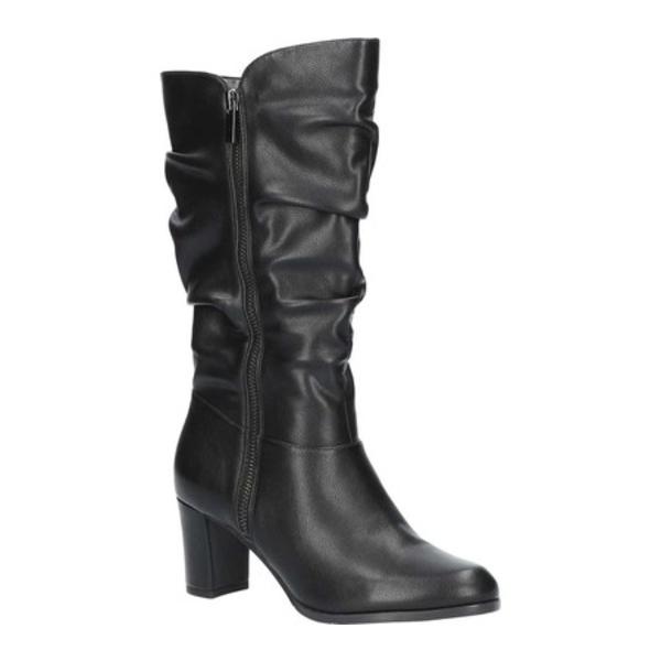 イージーストリート レディース ブーツ&レインブーツ シューズ Mara Mid Shaft Slouch Boot Black Manmade