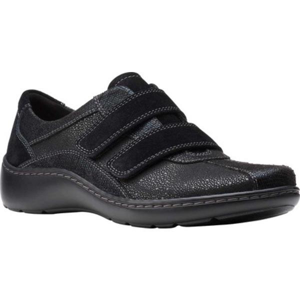 クラークス レディース スニーカー シューズ Cora Azalia Sneaker Black Synthetic/Leather
