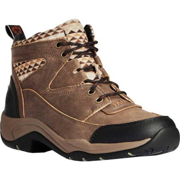 アリアト レディース スニーカー シューズ Terrain Hiking Boot Brown Bomber/Aztec Full Grain Leather