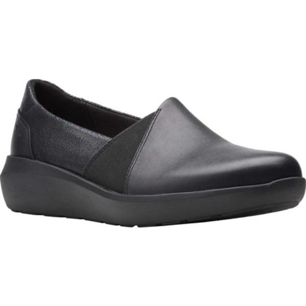 クラークス レディース スニーカー シューズ Kayleigh Step Slip On Sneaker Black Interest Combi Suede