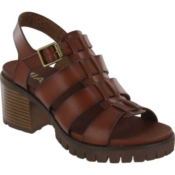 ミア レディース サンダル シューズ Lula Gladiator Heeled Sandal Cognac Vegan Leather