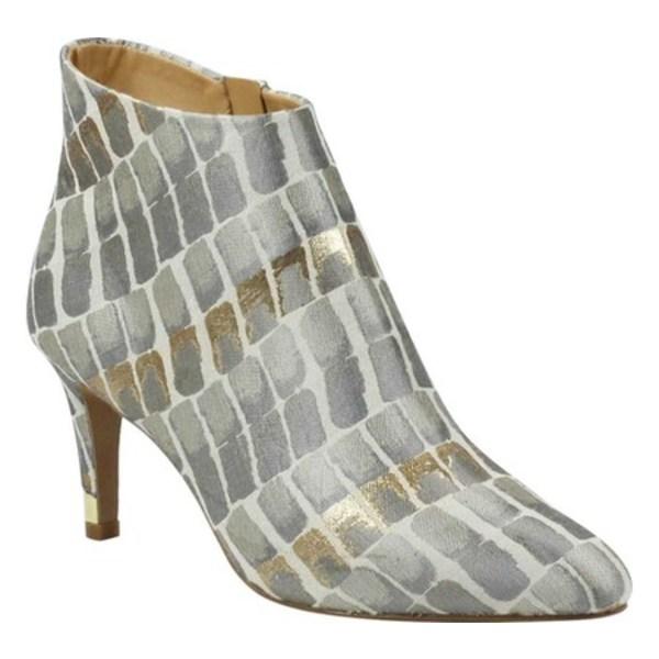 ジェイレニー レディース ブーツ&レインブーツ シューズ Ranae Heeled Ankle Bootie Taupe/Gold Croco Fabric