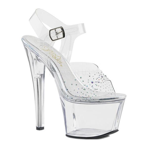 プリーザー レディース サンダル シューズ Sky 308SD Ankle-Strap Sandal Clear PVC/Clear