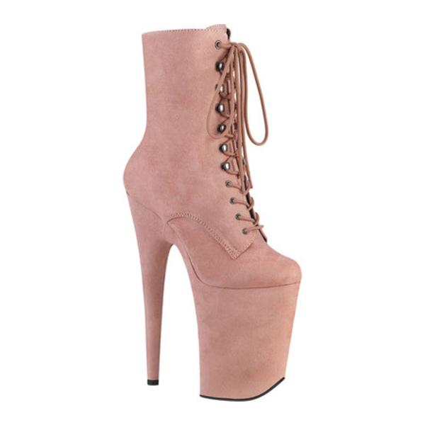 プリーザー レディース ブーツ&レインブーツ シューズ Infinity 1020FS Heeled Ankle Bootie Baby Pink Faux Suede/Baby Pink Faux Suede