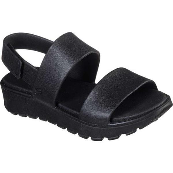 スケッチャーズ レディース サンダル シューズ Cali Gear Footsteps Breezy Feels Slingback Sandal Black/Black