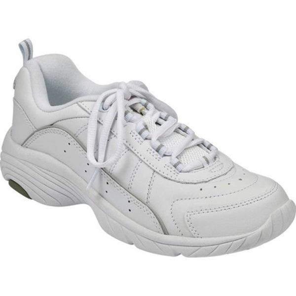 イージースピリット レディース スニーカー シューズ Punter White/Light Gray Leather