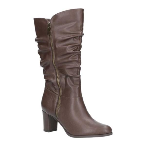 イージーストリート レディース ブーツ&レインブーツ シューズ Mara Mid Shaft Slouch Boot Brown Manmade
