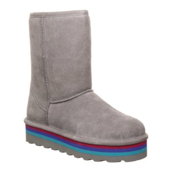 ベアパウ レディース ブーツ&レインブーツ シューズ Retro Elle Mid Calf Boot Gray Fog Suede