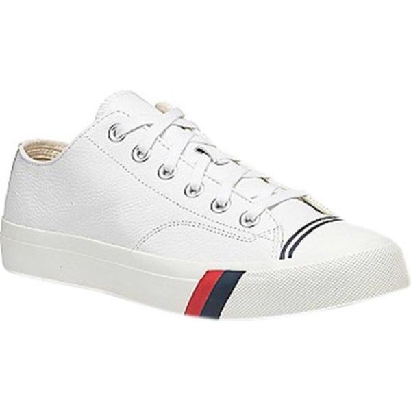 ケッズ レディース スニーカー シューズ PRO-Keds Royal Lo Classic Sneaker White Tumbled Leather