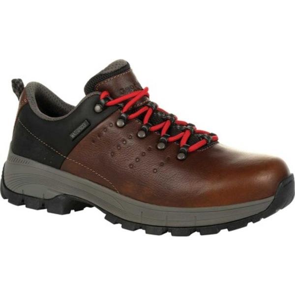 ジョージブーツ メンズ ブーツ&レインブーツ シューズ GB00398 Eagle Trail Waterproof Oxford Work Shoe Brown Full Grain Leather