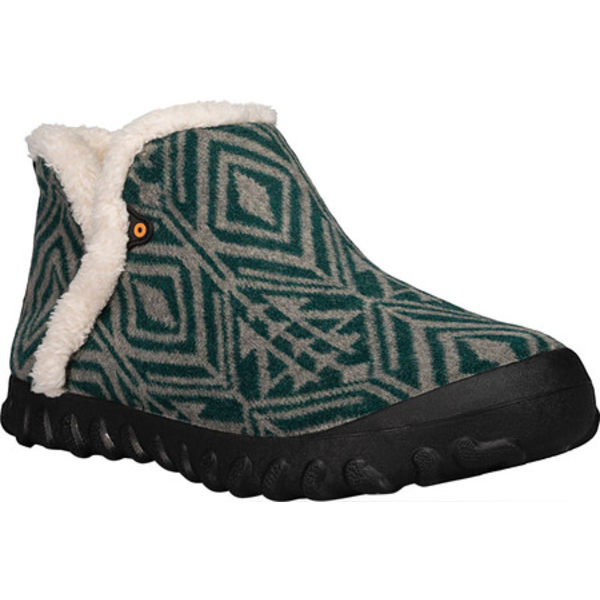 ボグス レディース サンダル シューズ B Moc Geo Waterproof Bootie Slipper Emerald Multi Textile/Wool