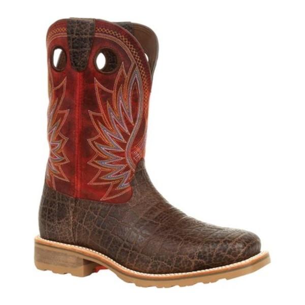 ヂュランゴ メンズ ブーツ&レインブーツ シューズ DDB0301 Maverick Pro ST WP Western Work Boot Safari Elephant/Crimson Full Grain Leather